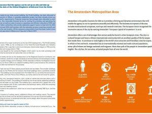 Pagine dei due dossier per la candidatura a ospitare l'Ema a confronto: a sinistra il documento italiano, a destra l'olandese