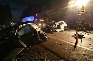 Incidente stradale a Borgarello (Pavia): scontro tra tre auto, un morto e cinque feriti gravi