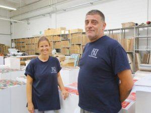 Andrea Meloni e la moglie Erika Mascheroni, proprietari della Nuova Tecnostampa di Gerenzano