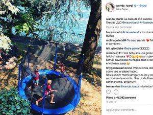 Il post su Instagram in cui Wanda Nara ringrazia il marito Mauro Icardi