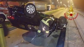 Paullo, grave incidente in mattinata, auto si ribalta: 80enne ricoverato in gravi condizioni