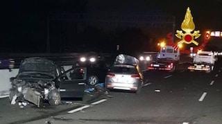 Incidente sull'Autostrada A4 tra Capriate e Dalmine: morto un ragazzo di 25 anni, due feriti