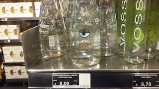 L'acqua Evian della Ferragni (che costa 8 euro) va a ruba alla Rinascente