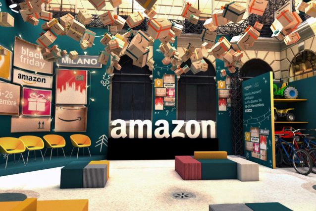 Il pop–up store di Amazon a Milano