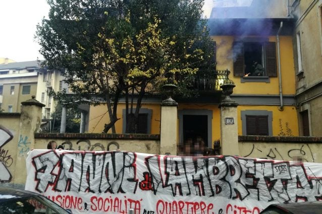 La nuova sede del centro sociale Lambretta (dalla pagina Facebook del collettivo)