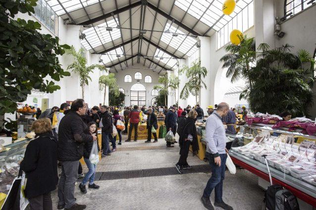 Il mercato della Coldiretti di Campagna Amica a Roma