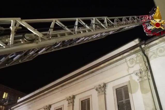 L'esercitazione antincendio (Foto: Vigili del fuoco)
