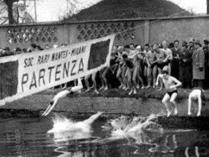 Il cimento invernale del 1960 (Foto dalla pagina Facebook: Stefano Tosi – Da Milano alla Barona. Storia, luoghi e persone)