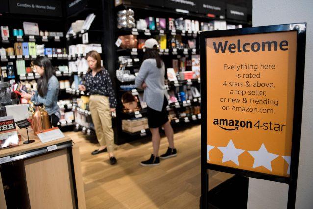 Un negozio Amazon 4 star (Archivio Getty images)
