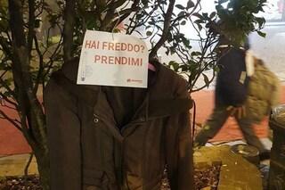 Monza, cappotti appesi agli alberi per chi ne ha bisogno: la splendida iniziativa