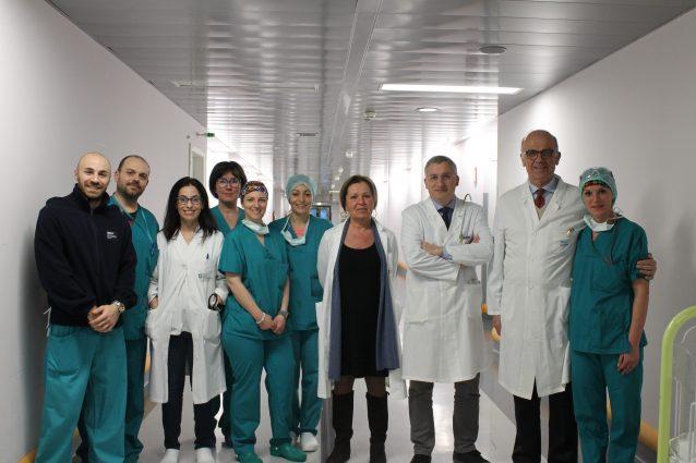 L'équipe dell'ospedale Papa Giovanni XXIII