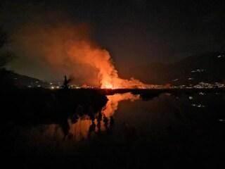 Incendio in provincia di Brescia: a fuoco le Torbiere del Sebino, l'ipotesi di un piromane