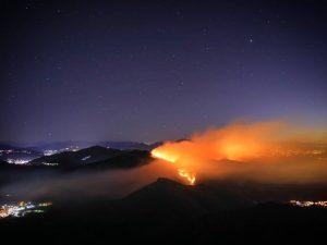 Monte Martica in fiamme (Foto Instagram: Marco_tti)