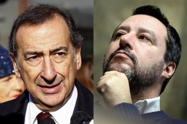 Il sindaco di Milano Beppe Sala e il ministro dell'Interno Matteo Salvini