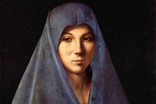 L'Annunciata di Antonello da Messina (particolare, foto Giulio Archinà)