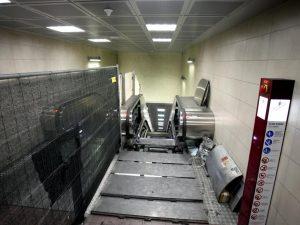 Scale mobili della metropolitana (La Presse)