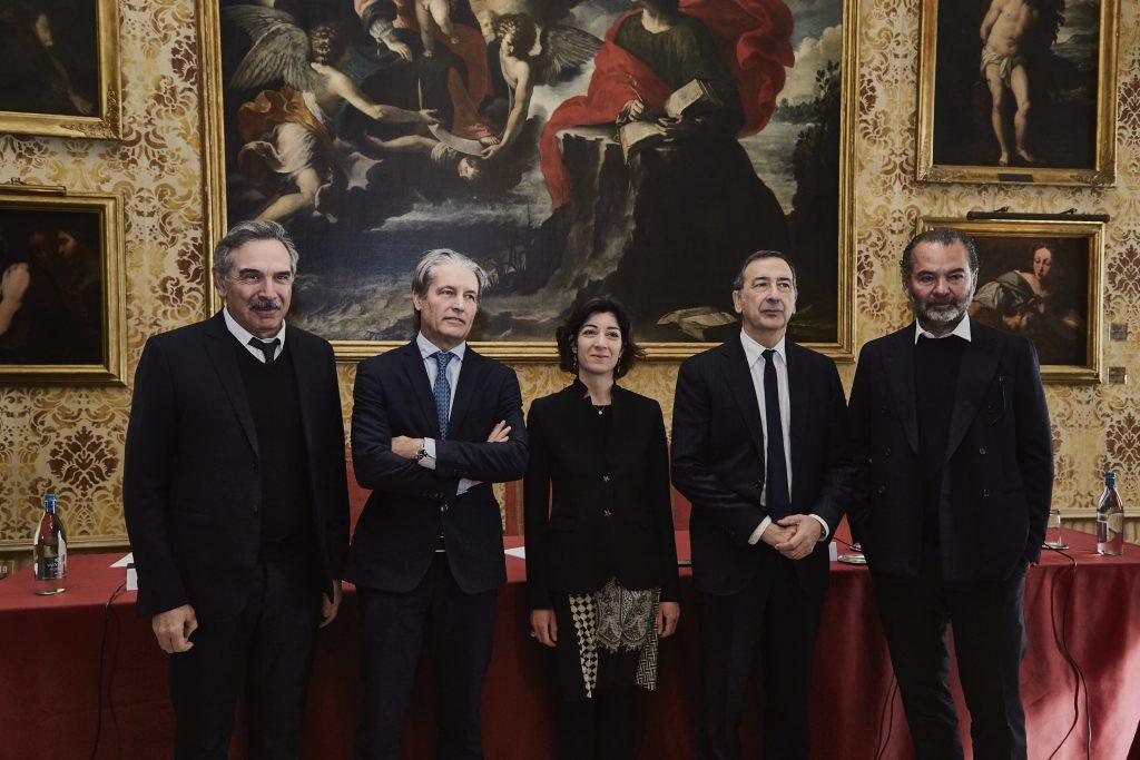 La presentazione dell'evento Moncler in collaborazione con il comune di Milano