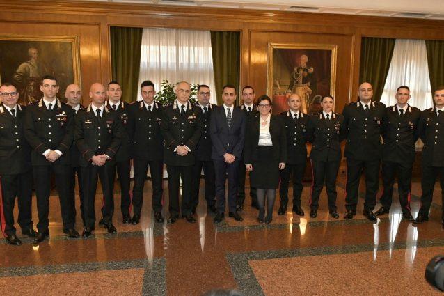 I carabinieri premiati a Roma