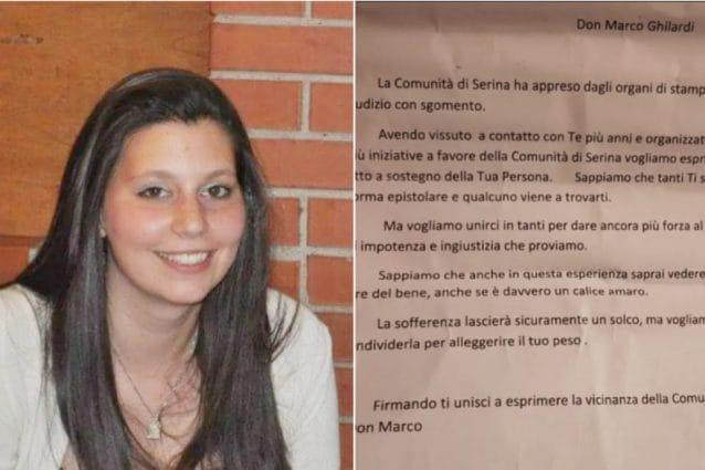 Valentina Cavagna e la lettera scritta da alcuni cittadini di Serina (Foto Facebook)