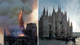 """Incendio Notre Dame, i timori sui social: """"E se accadesse al Duomo di Milano?"""". Parla l'esperto"""