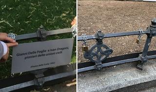 """La denuncia dei Sentinelli di Milano: """"Scomparsa targa dedicata a due pionieri delle unioni civili"""""""