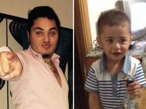Aljica Hrustic e il figlio Mehmed, due anni, ucciso di botte dal padre