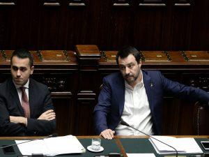 I vicepremier Luigi Di Maio (M5S) e Matteo Salvini (Lega)