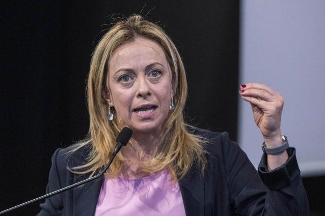La presidente di Fratelli d'Italia, Giorgia Meloni