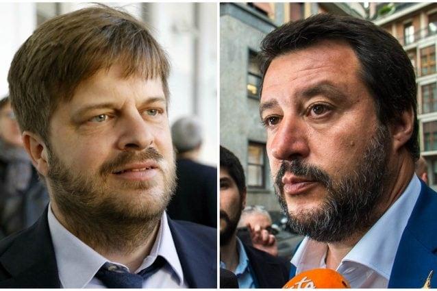 L'assessore milanese Pierfrancesco Majorino e il ministro dell'Interno Matteo Salvini
