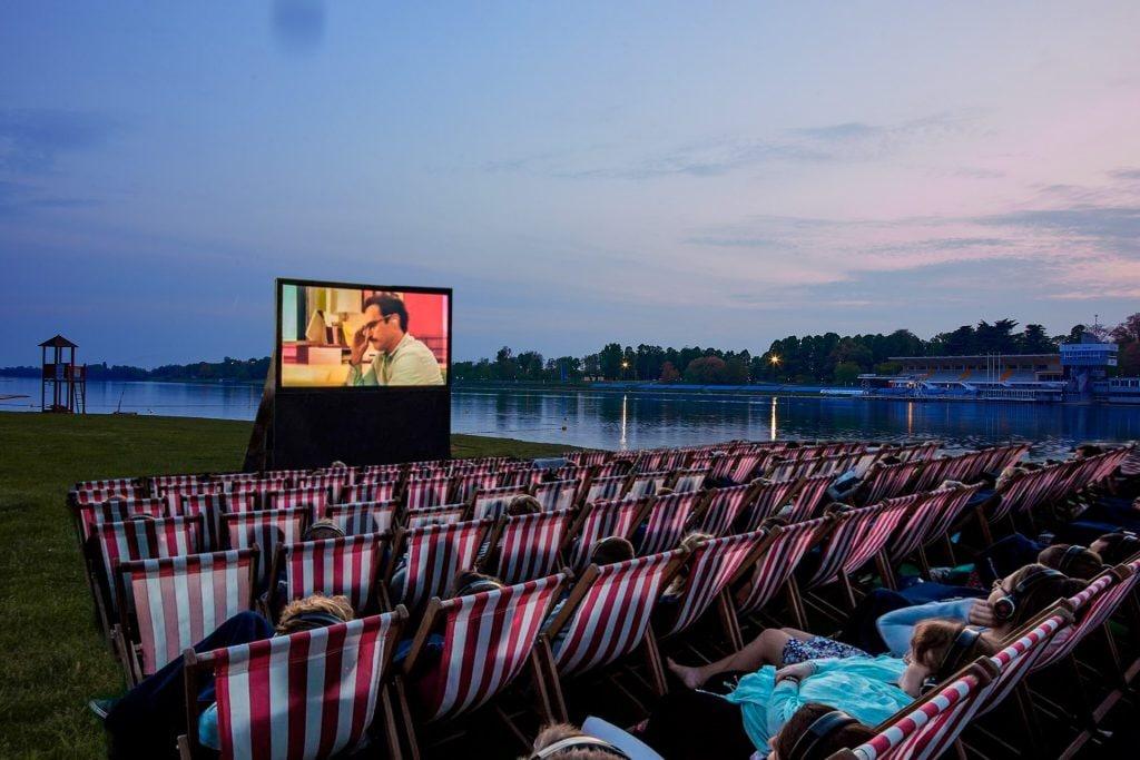 Il cinema in spiaggia all'Idroscalo