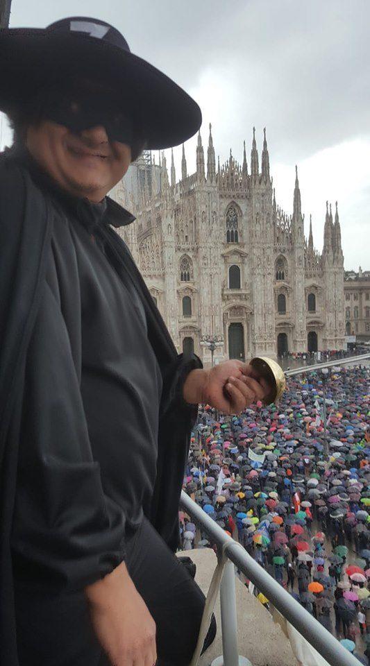 Riccardo Germani vestito da Zorro