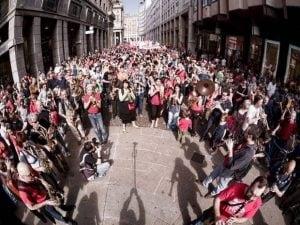 Una manifestazione della Banda degli ottoni (Facebook)