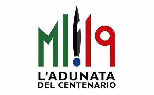 Il logo dell'Adunata del Centenario a Milano