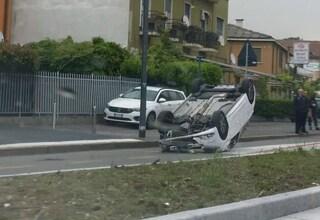 Incidente a Mello, auto ribaltata: ferite una mamma e due bimbe piccole