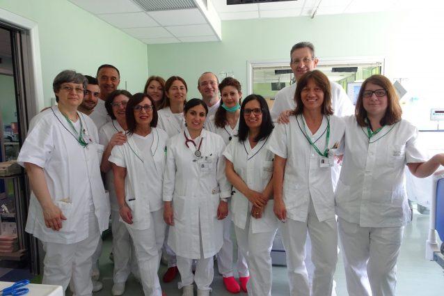 L'equipe della nefrologia dell'ospedale di Cremona