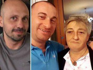 Andrea La Rosa (a sinistra): per il suo omicidio sono stati condannati Raffaele Rullo e la madre, Antonietta Biancaniello (a destra)