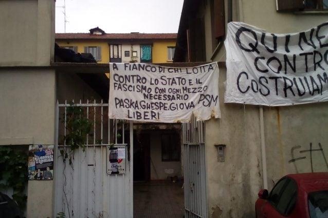 Lo stabile occupato in via Bordighera (Facebook)