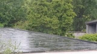 Temporale a Milano: pioggia e (a sprazzi) grandine