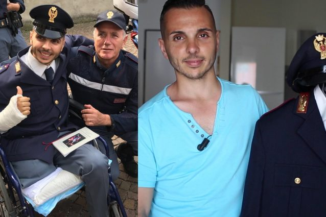 L'agente di polizia Bruno Varacalli