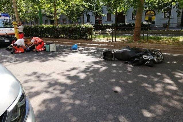 L'incidente in viale Abruzzi a Milano