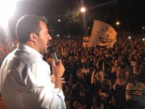 Un'immagine del comizio di Matteo Salvini a Cremona (Foto: Facebook Alessandro Zagni)