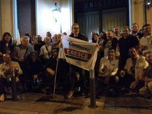 La festa dei sostenitori del candidato di centrodestra Luigi Gianantonio Magistro