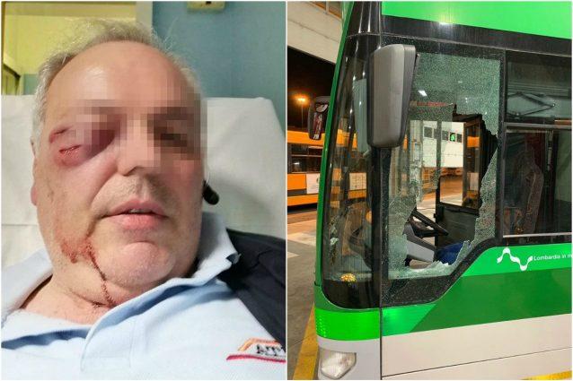 L'autista aggredito e l'autobus vandalizzato
