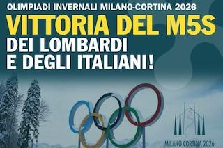 Il MoVimento 5 stelle Lombardia cancella il post in cui si prendeva il merito per le Olimpiadi 2026
