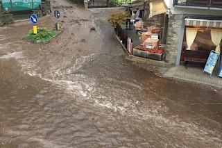 Primaluna, temporali si abbattono sul Lecchese: colata di fango investe le strade della città