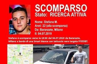 Scomparso da Baranzate il 22enne Stefano Marinoni: è uscito di casa in auto e non è più tornato