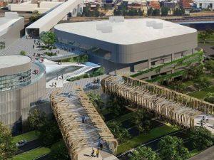 (Il rendering del centro commerciale Merlata Mall)