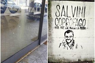 Lumezzane, uova contro sede della Lega e compare un murales anti Salvini