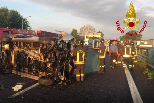 L'incidente avvenuto a Segrate