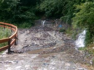 Il torrente Ble straripato